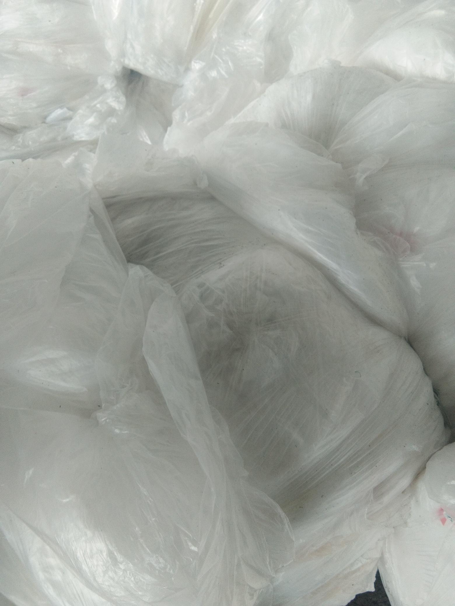 LLDPE乳白原料袋杂色刀切料